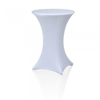 Stehtisch mit weißer Husse (Miete)